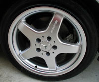 Mercedes  Silver AMG 5 Spoke Type III Wheels
