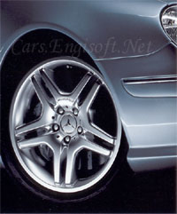 "Mercedes 18"" Silver AMG Double Spoke Type IV Wheels"